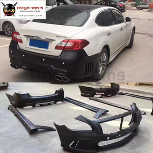Q70 WD style FRP car front bumper rear bumper side skirts for Infiniti Q70 WALD style Car body kit 13-15