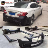 Q70 Wd Style Frp Car Front Bumper Rear Side Skirts For Infiniti Wald Car Body Kit 13-15