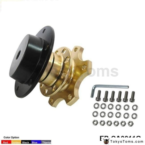 Quick Release Snap Off Hub Adapter Fits Car Sport Steering Wheel For Seat 2001-2006 Gold Boss Kits