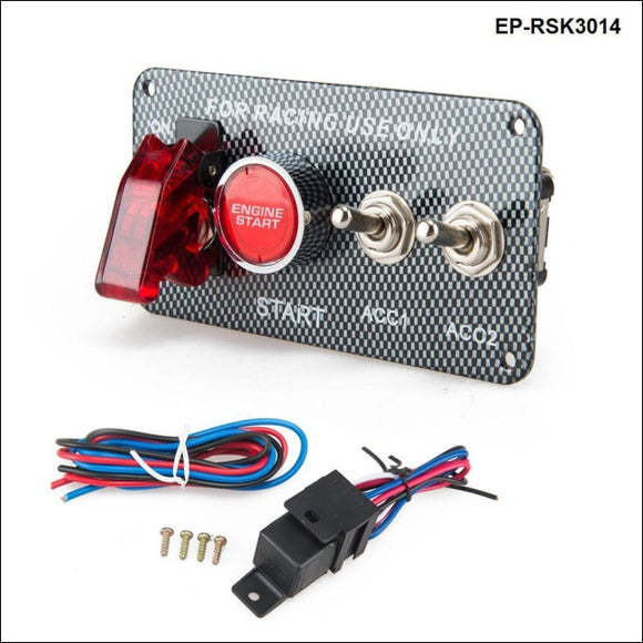 Racing Car Electronics Switch Kit Panel Engine Start Button Toggle With Accessory Switches