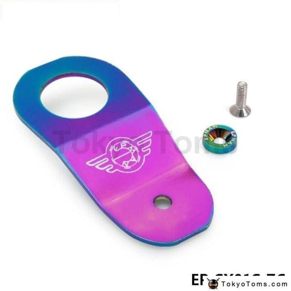 Racing Neo Chrome Billet Aluminum Radiator Stay Bracket With Washer+Bolt For Honda Civic Ek