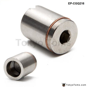 Racing Sport T304 1Stainless Steel O2 / Oxygen Sensor Exhaust Bung (18Mm X 1.5) W/plug Turbo Parts
