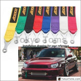 Racing Tow Strap With Bolt-On Hardware Universal Jdm For Cars Trucks Adth152 Exterior Parts