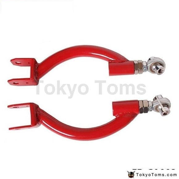 Rear Adjustable Upper Camber Control Arm Kit Red For 95-98 Nissan S14 Skyline Gtr R33 Suspensions