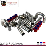 "Red 2.36"" Inches 60mm Turbo/Supercharger Intercooler Polish Pipe Piping Kit"