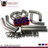 Red 3 Inches 76Mm Turbo/supercharger Intercooler Polish Pipe Piping Kit Aluminum