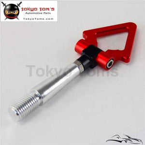 Red Aluminum Tow Hook Towing Hook Ring For Mitsubishi Lancer EVO Ex 08-11