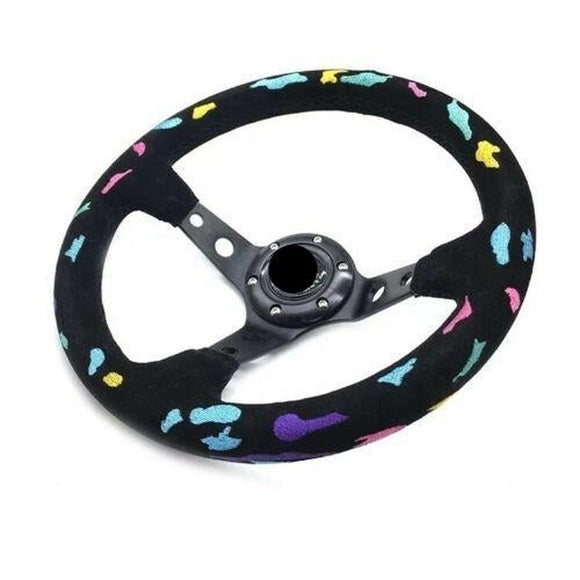"13"" (330mm) Rainbow Leopard VX Steering Wheel"