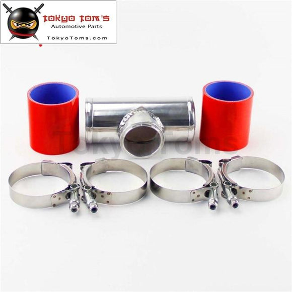 Silicone Hose W/clamps + 2.75 70Mm T-Pipe Aluminum Bov Adapter Pipe For 35 Psi Type S / Rs Piping