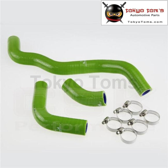 Silicone Radiator Coolant Hose + Clamps  For Suzuki Drz400S/Drz400Sm Drz400Sl 2002-2011 Green