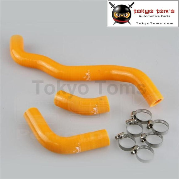 Silicone Radiator Coolant Hose + Clamps  For Suzuki Drz400S/Drz400Sm Drz400Sl 2002-2011 Yellow