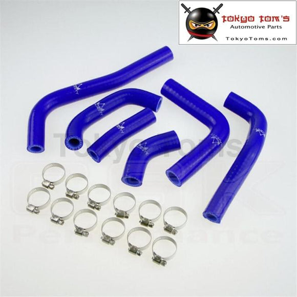 Silicone Radiator Hose For Honda Crf450R Cr Crf 450F 2002 -2004 + Clamps Blue