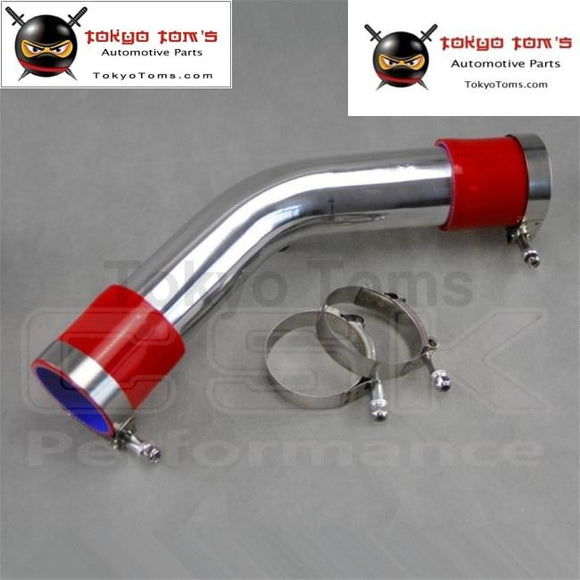 Silver 50Mm 2 45 Degree Aluminum Turbo Intercooler Pipe Piping+Red Silicon Hose +T Bolt Clamps
