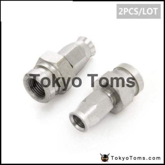 Stainless Steel Straight Brake Swivel Hose Ends Fittings - 2Pcs/lot An -3 To M10X1.0 Brakes
