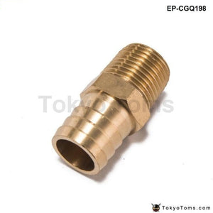 Straight 1/2 Npt Pipe To 3/4Hose Barb Fitting Bare Coupler Turbo Parts