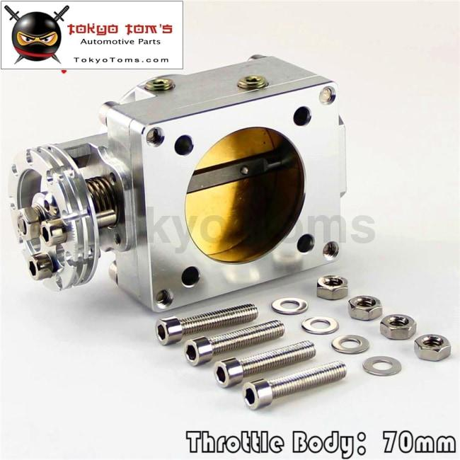 70mm Silver Throttle Body For Nissan Silvia SR20 S13 S14 S15 SR20DET 200SX 240SX