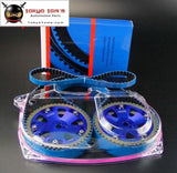 Timing Belt W/Balance + Cam Gear+ Clear Cam Cover For Lancer EVO 9 Ix 4G63 Gray/Blue/Silver