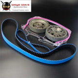 Timing Belt W/balance + Cam Gear+ Clear Cover For Lancer Evo 9 Ix 4G63 Gray/blue/silver