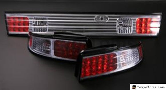 Nissan S14 LED (Chrome) Tail Lights (left and right and optional center)