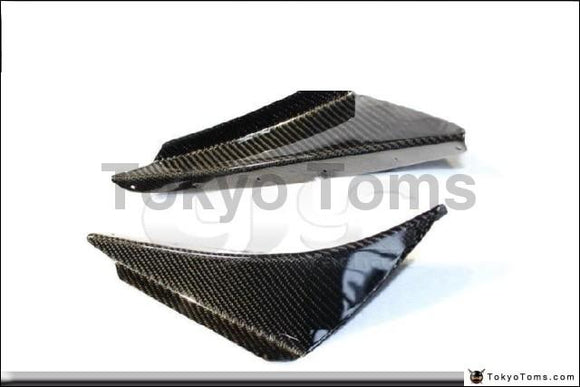 Car-Styling Carbon Fiber Front Canard  2Pcs Fit For 2003-2005 Lancer Evoulation 8 EVO 8 OEM Front Bumper Canards