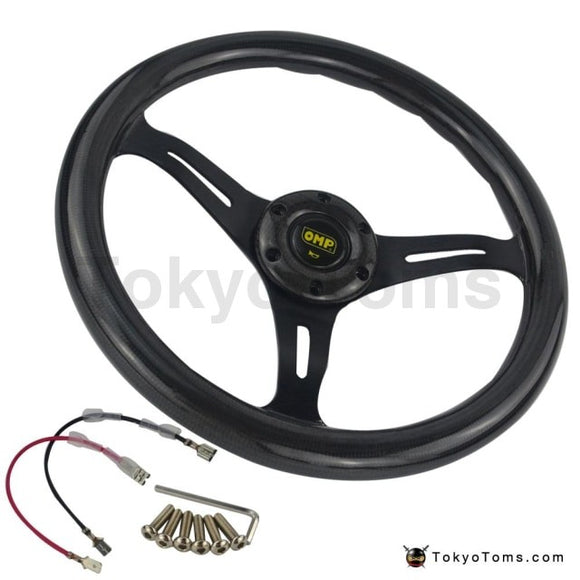 14'' (350mm) Carbon Fiber Style Tom's steering wheel