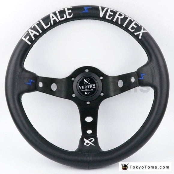 13inch (330mm) Dark Blue FATLACE Style Steering Wheel
