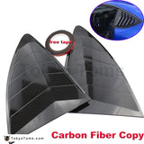 Rear Quarter Window Louvers Spoiler Panel Carbon copy for Scion FRS for Subaru BRZ for Toyota 86 GT86