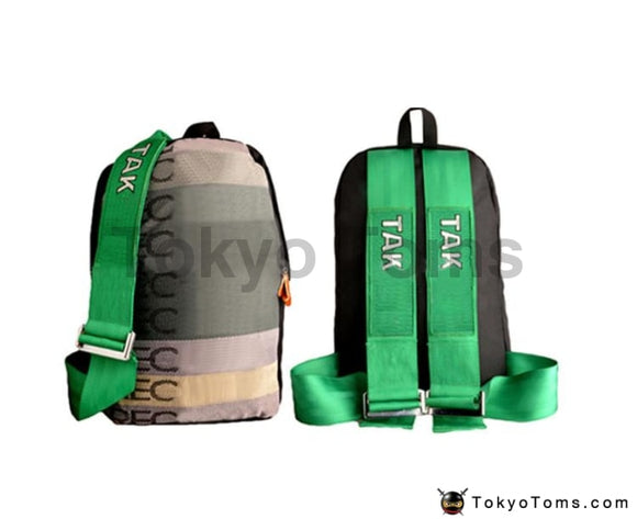 Full RECARO Style - Green Takata Strap Backpack