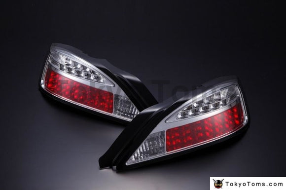 Nissan S15 Silvia Led Tail Lamp Led Turn Signal Type (Chrome) (Right And Left Set)