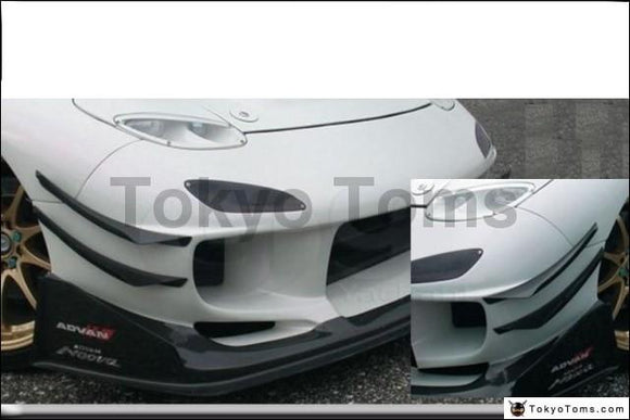Car-Styling Carbon Fiber Front Canards Fit For 1992-1997 RX7 FD3S R Magic N1 Front Bumper Canards ONLY fits for N1 Bumper