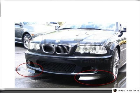 Car-Styling Carbon Fiber Front Canards Fit For 1998-2005 E46 M-Tech II Front Bumper CSL Style Front Bumper Canards