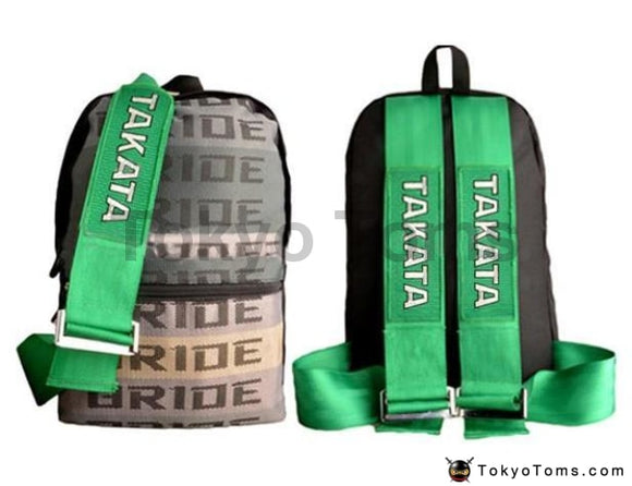 Full BRIDE Style - Green Takata Strap Backpack