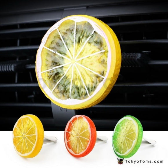 Car Air Freshener Air Conditioner Vent Clip Solid Fragrance Auto Outlet Perfume Lemon Shape Car-styling Interior Accessories