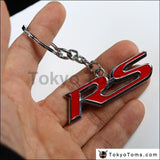 1 PCS Mini Shape Metal Chrome Keychain Keyring For RS Emblem Logo Key Chain Ring Hoder  A3 A4 A6 A8 S4 S5 S6 S8