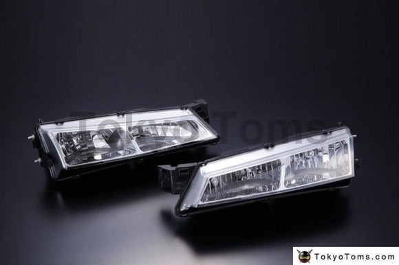 Nissan S14 Silvia Late  Crystal Headlight (Chrome) (Right And Left Set)