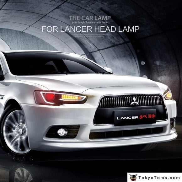 Mitsubishi Lancer Headlight 2008-2017 Led DRL - Headlights With Demon Eyes