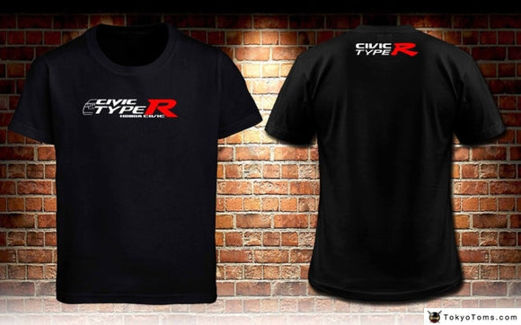 Top Quality T Shirts Men O Neck Japan Car Civic Fd Type R Custom Black T-Shirt Mens S To 3Xl Print