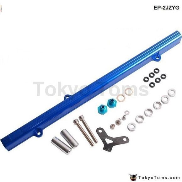 High Flow Top Feed Injector Fuel Rail Kit For Nissan Skyline RB25 ECR33 Blue Aluminium Billet