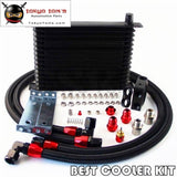 Trust An10 15 Row Oil Cooler +73 Degree Thermostatic / Thermostat Sandwich Plate Kit Bk Oil Cooler