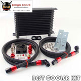 Trust AN10 15 Row Oil Cooler +73 Degree Thermostatic / Thermostat Sandwich Plate Kit Bk