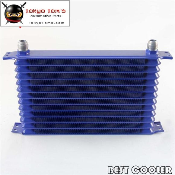Universal 13 Row An10 Engine Transmission Trust Oil Cooler Blue Csk Performance