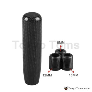 Universal 13cm Gear knob Real Carbon Fiber Gear Shift Knob Aluminium Alloy Long Black Custom Shift Knob