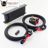 Universal 16 Row 248Mm An10 Engine Transmission Oil Cooler British Type + Aluminum Filter Adapter