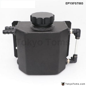 Universal 1L Alloy Aluminium Engine Oil Catch Can Breather Tank Radiator Overflow Epyxfst003 Fuel