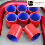 Universal 2 51Mm Turbo Boost Intercooler Pipe Kit 8 Pcs Aluminum Piping Red Piping