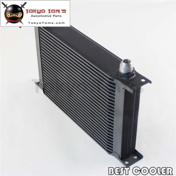 Universal 25 Row An10 Engine Transmission 248Mm Oil Cooler Black Csk Performance