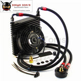 Universal 260X230X32Mm 17 Row An8 Oil Cooler Kit + 7 Electric Fan