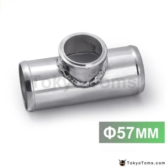 Universal 57Mm 2.25 Turbo Aluminum Flang Pipe Fit For Tail 50Mm Blow Off Valve Parts