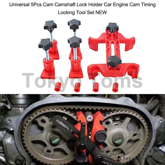 Universal 5Pcs Camshaft Lock Holder Car Engine Cam Timing Locking Tool