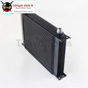 Universal Aluminum An10 28 Row 248Mm Engine Oil Cooler British Type Black